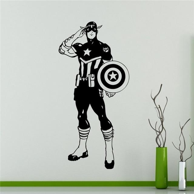 Captain America Avengers Sticker Superhero Interieur Ideeën ...