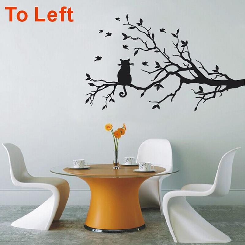 Modern Cat Tree Branch Wall Sticker Decals Birds Animal Poster Vinyl Art  Stickers PVC Home Decor Living Room Kitchen Decorations In Wall Stickers  From Home ... Part 42
