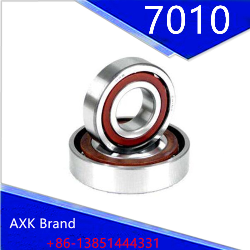 ФОТО 1pcs AXK 7010 H7010C 2RZ HQ1 P4 50x80x16 Sealed Angular Contact Bearings Ceramic Hybrid Bearings Speed Spindle Bearings CNC