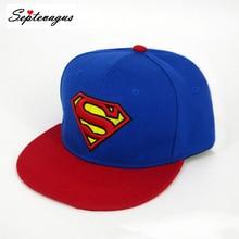 Мода унисекс вышивка бейсболка Супермен шляпа супер герой регулируемая хип хоп Повседневная Бейсболка для взрослых