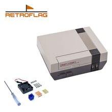 Retroflag nespi caso mais funcional botão de energia com desligamento seguro para raspberry pi 3 b + (b plus)