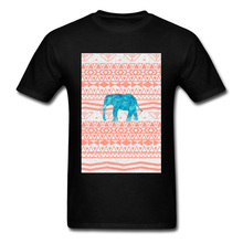 Big Discount Great T Shirts Mens 2018 New Arrival Retro Style Loose Tee-Shirt Printing Pink Elephant Brand Tops Tees Free Ship