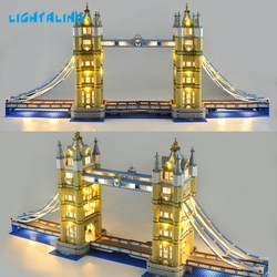 LIGHTALING Architettura London Tower Bridge Set di Luce HA CONDOTTO LA Luce kit Compatibile Con 10214 E 17004 (NON Include Il Modello)