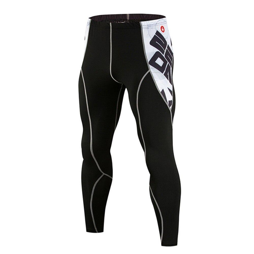100% Kwaliteit Mannen Compressie Skin Panty Leggings Workout Crossfit Bodybuilding Mannelijke Bottom Mma Broek Fitness Broek Sweatshirt Geweldige Prijs
