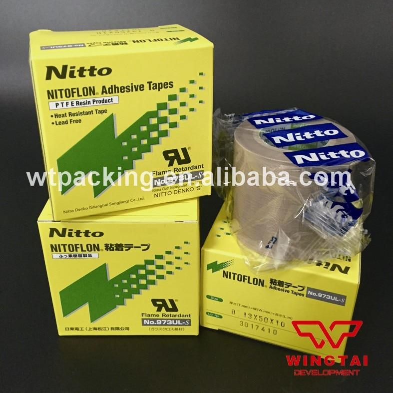 30 Pcs Nitto Denko 973UL-S Adhesive Tape  Nitto Heat Resistance Glass Fiber Cloth Nitoflon Tape(T0.13mm*W50mm*L10m ) t0 10mm w38mm l33m nitto denko heat sealing machine use heat resistant tape 923s