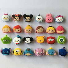 24pcs Tsum Tsum PVC Shoe Charms Shoe Buckle Accessories for Croc Decoration for Bracelet with hole Children Birthday Party Gift(China)