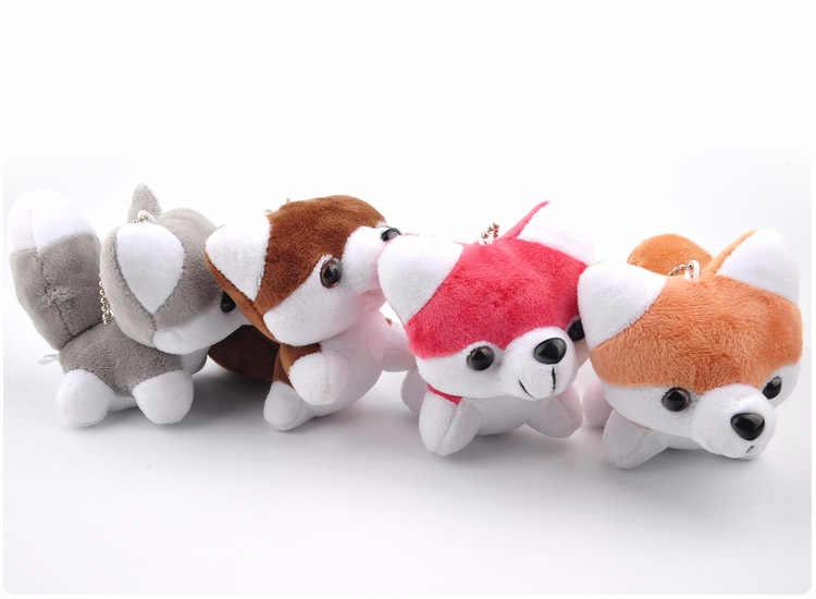 かわいい秋田犬ぬいぐるみペンダント玩具人形市場クラムシェル人形ぬいぐるみキーホルダーウェディング4色15センチwj04
