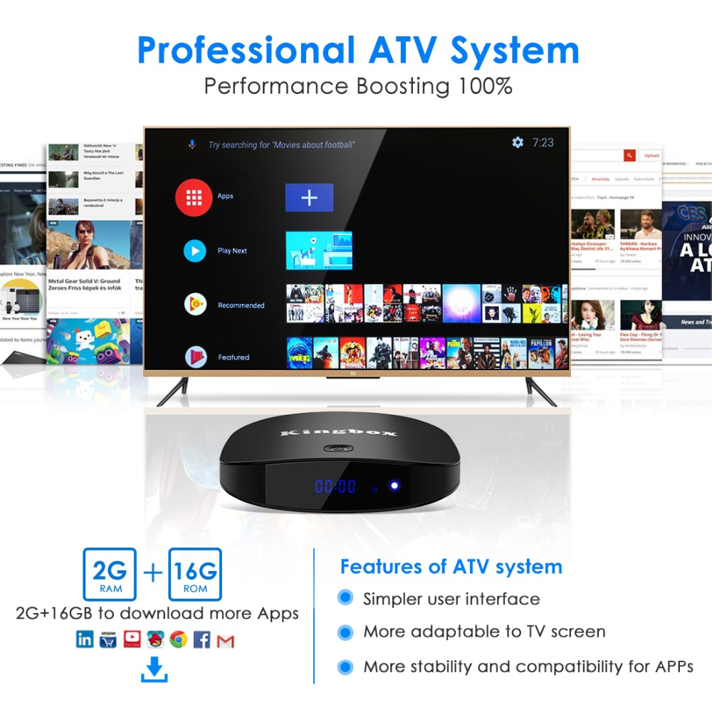 Leelbox Android 8 1 Smart TV Box 2GB 16GB 2 4G 5G Wifi H 265 4K HD Google Streaming Media Player Set Top Box Netflix IPTV Box in Set top Boxes from Consumer Electronics