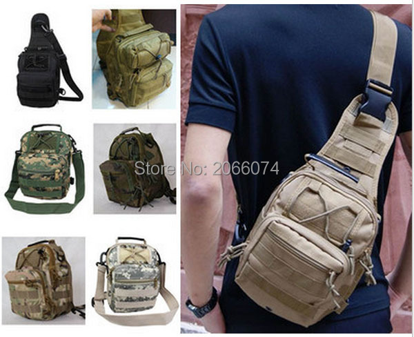 Military Tactical Chest Pack Fly Equipment Nylon Wading Chest Pack Cross Body Sling Single Shoulder Bag Camping & Hiking