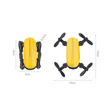 Foldable Four-Colored Mini Selfie Drone with HD Camera