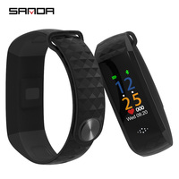 SANDA Bluetooth Smart Wrist Band Blood Pressure & Heart Rate Monitor Waterproof Fitness Bracelet Pedometer Unisex Smart Watch
