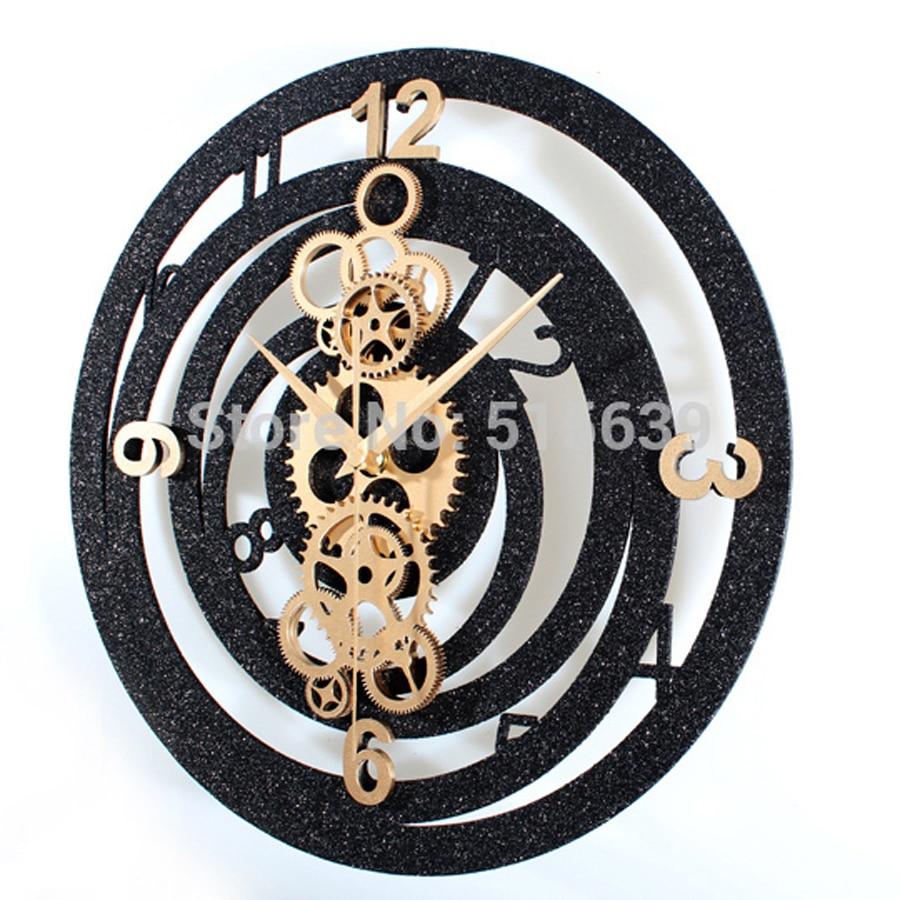 Engranaje creativo Reloj de pared de diseño moderno salón de Metal ...