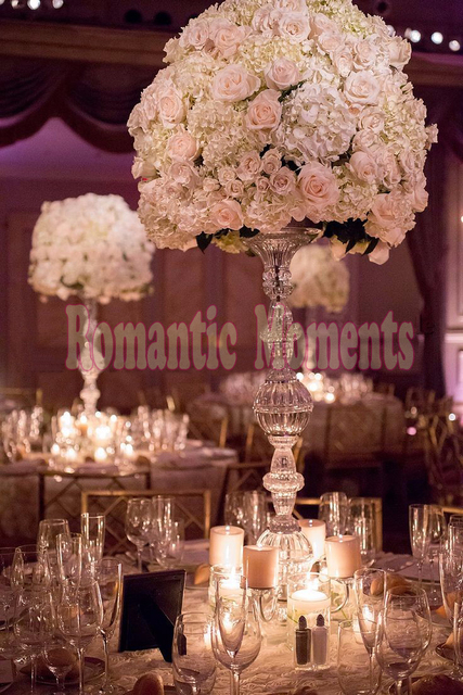 2018 new arrival wedding flower stand crystal table centerpiece 2018 new arrival wedding flower stand crystal table centerpiece 92cm tall junglespirit Images