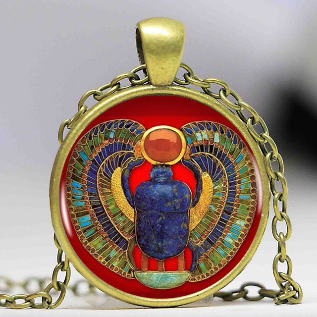 Online shop 2016 fashion egyptian scarab necklace ancient egypt 2016 fashion egyptian scarab necklace ancient egypt jewelry egypt necklace egyptian jewelry for women4 colors for choosing aloadofball Choice Image