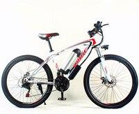 Передний и задний дисковый убийца 26 дюймов горный велосипед батарея, алюминиевый сплав рама литиевая батарея электрический велосипед диск