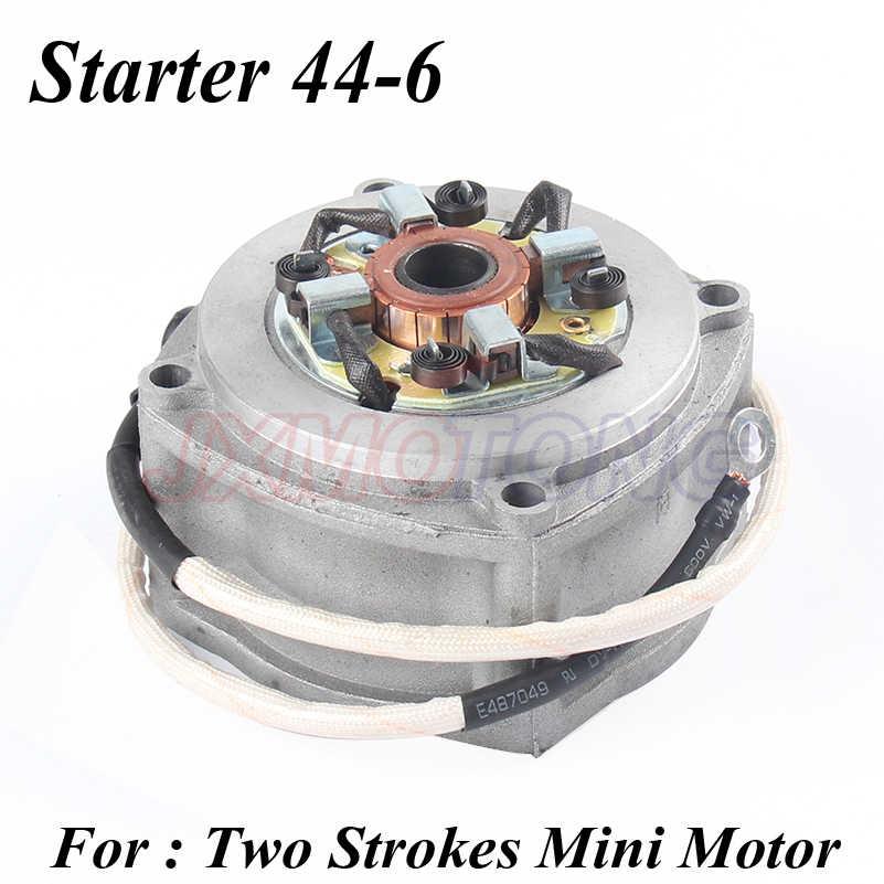 Стартер двигателя мотоцикла 2 двухтактный Мини Мото мини велосипед карманный велосипед 44-6 двигатель мини ATV квадроцикл электрические Sccoters