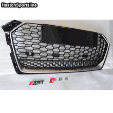 2017UP A5 S5 RS5 ABS Car Styling Exterior Parts Front Mesh Grill Grille for Audi A5 2Door 4Door With 4ring Logo