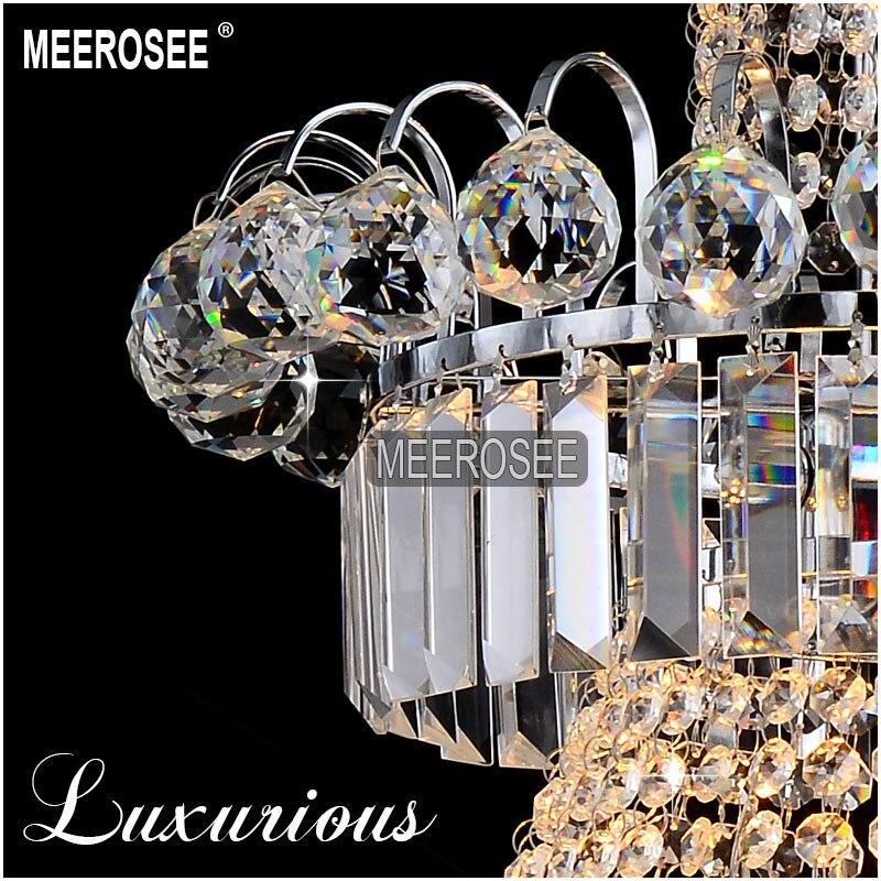 Duży hotelowy srebrny kryształowy żyrandol. Oprawa oświetleniowa - Oświetlenie wewnętrzne - Zdjęcie 4