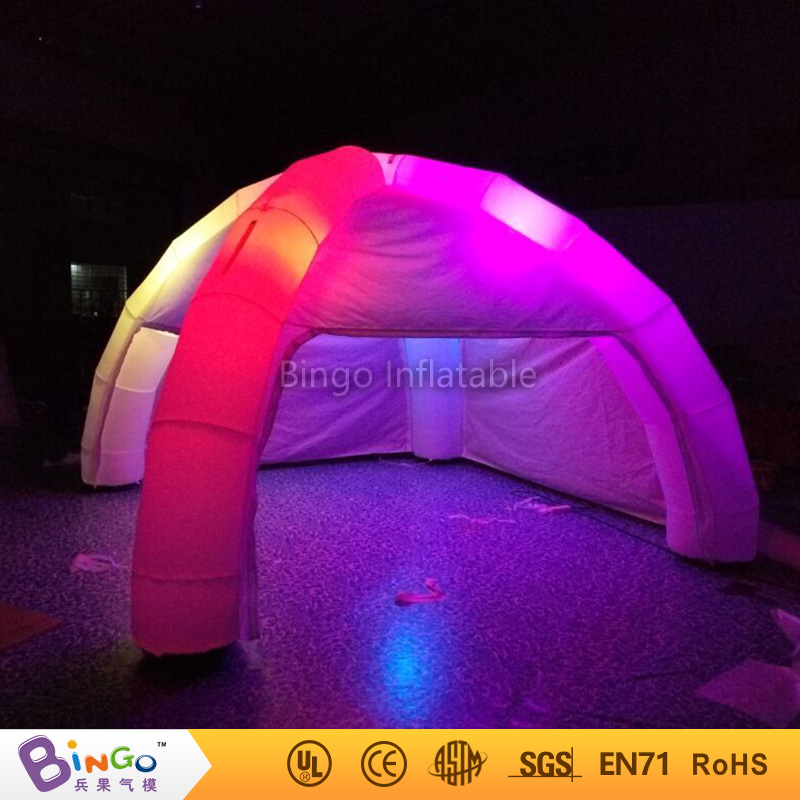 ФОТО portable led light inflatable spider tent with 4 spider pillars 5*5m(16ft.*16ft.) toy tent bg-a0712-2