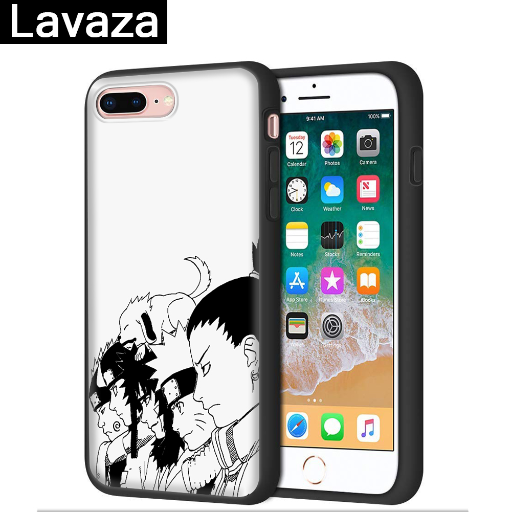 Lavaza Naruto character anime Silicone Case for iPhone 5 5S 6 6S 7 8 11 Pro Plus X XR XS Max in Fitted Cases from Cellphones Telecommunications