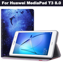 Fashion Case for Huawei Mediapad T3 eight.zero KOB-W09 KOB-L09 Tablet PC for Huawei Mediapad T3 Case Cover