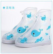1pair Waterproof Protector Boot Cover Unisex children shoe pou Covers High-Top Anti-Slip Rain Shoes Cases Non-Slip Rainboot