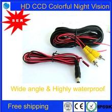 Акции FreeShippping 6 м Видео Частотный кабель 1,5 м Мощность кабель Универсальная автомобильная камера проводов для камера заднего вида