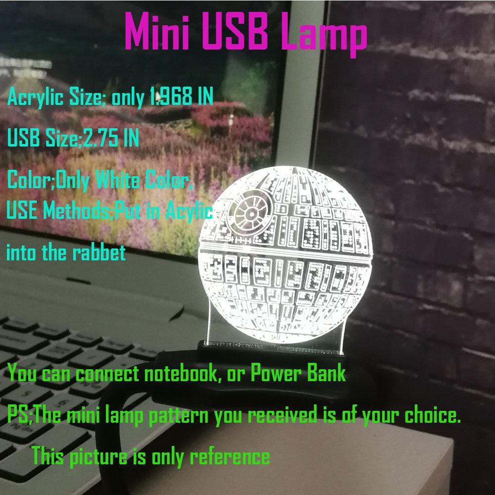 Hot Sale Film Star Wars 3D USB LED-lampa Astro Cartoon Death Star - Nattlampor - Foto 5