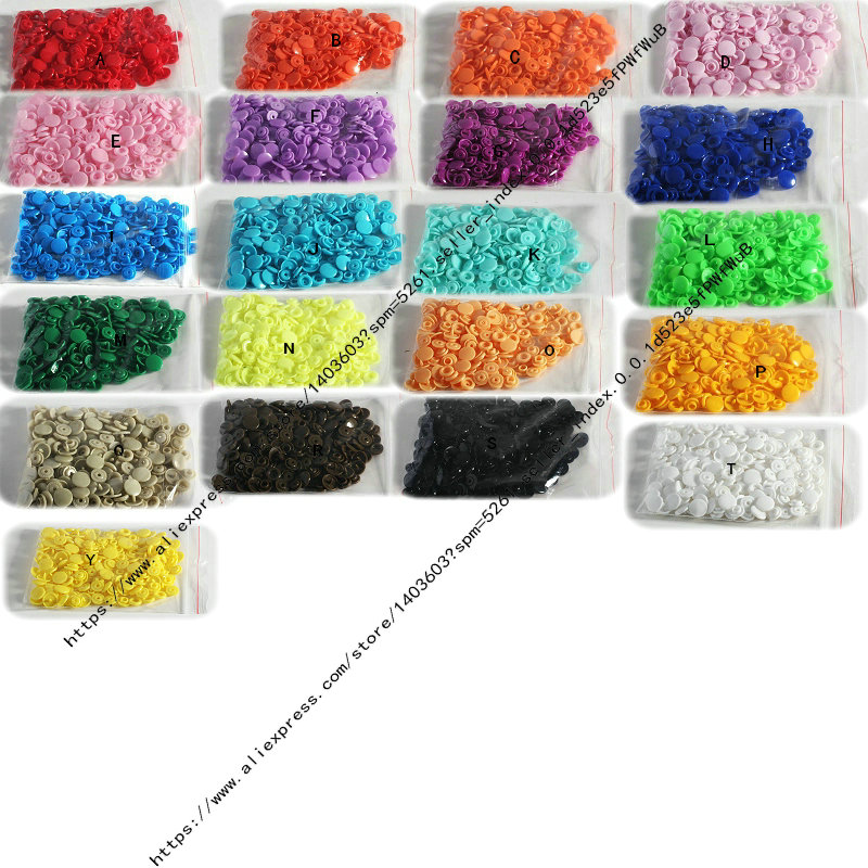 wholesale price 50 Sets KAM T5 baby Resin snap buttons plastic snaps clothing accessories Press Stud Fasteners 36 colors