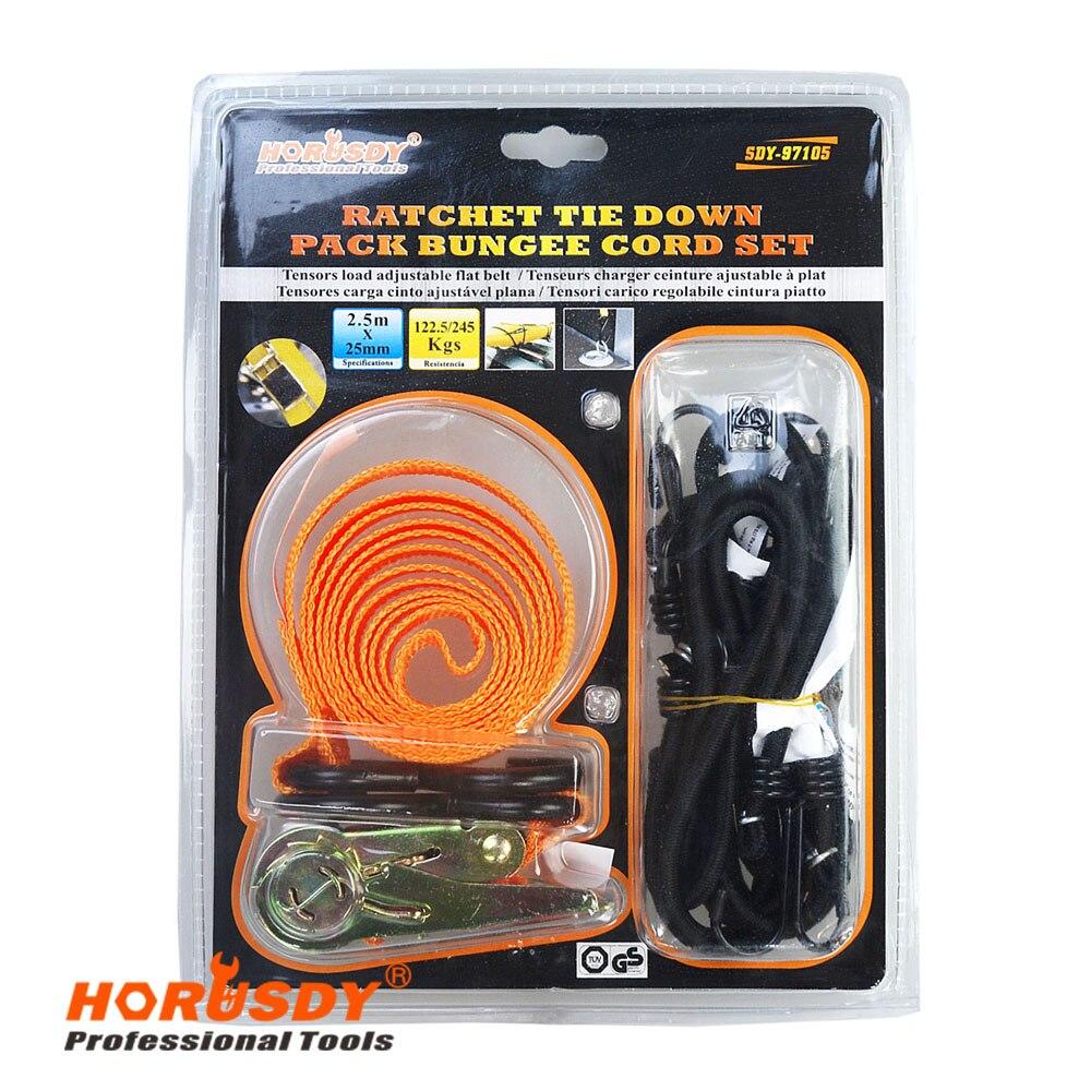Ratchet tie down 2.5mx25mm Premium Ratchet Tie Downs Bungee Cord Set xkai 14pcs 6 19mm ratchet spanner combination wrench a set of keys ratchet skate tool ratchet handle chrome vanadium