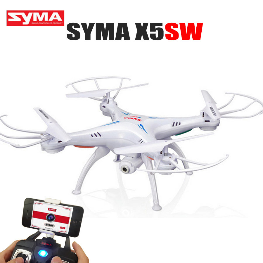 Syma X5SW RC Drone With Camera 4CH Quadcopter Wifi FPV Real-time Transmission Remote Control Helicopter Toys rc drone quadcopter x6sw with hd camera 6 axis wifi real time helicopter quad copter toys flying dron vs syma x5sw x705