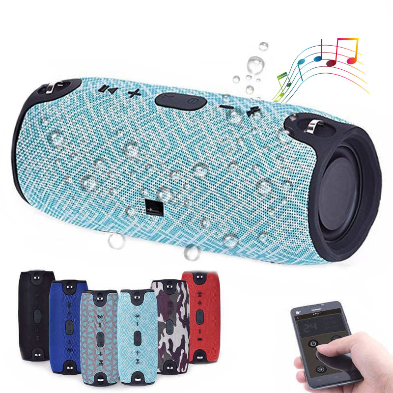 New Plastic Soundbar Portable Bluetooth Speaker Power Sound Stereo For Audio Boombox Outdoor Sports Hifi Music Fm Tf Aux Xtreme new portable hifi audio stereo wireless bluetooth headphone with mic speaker for sports music