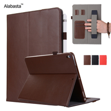 Alabasta For iPad mini 4 Smart Case Luxury Learher +Silicone Protection Flip Stand Cover Card Bag Credit Card Holder With stylus