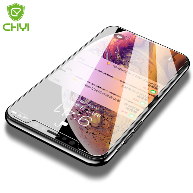 Original CHYI for iphone Xs max glass 9h hardness tempered glass iphone Xr explosion-proof screen protector for iPhone 5s glass