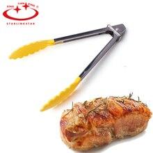 1 шт. нейлоновые щипцы для кемпинга, барбекю, Кухонные мини-щипцы, термостойкие нейлоновые щипцы для приготовления пищи, Стальные Щипцы для еды, кухонные аксессуары