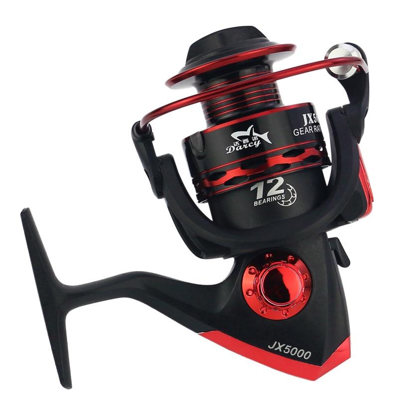 Oture Métal Spool Spinning Reel Fishing 12BB Roue Supérieure pour Eau Douce Eau Salée De Pêche 1000-7000 Série 5.5: 1 roue bobine