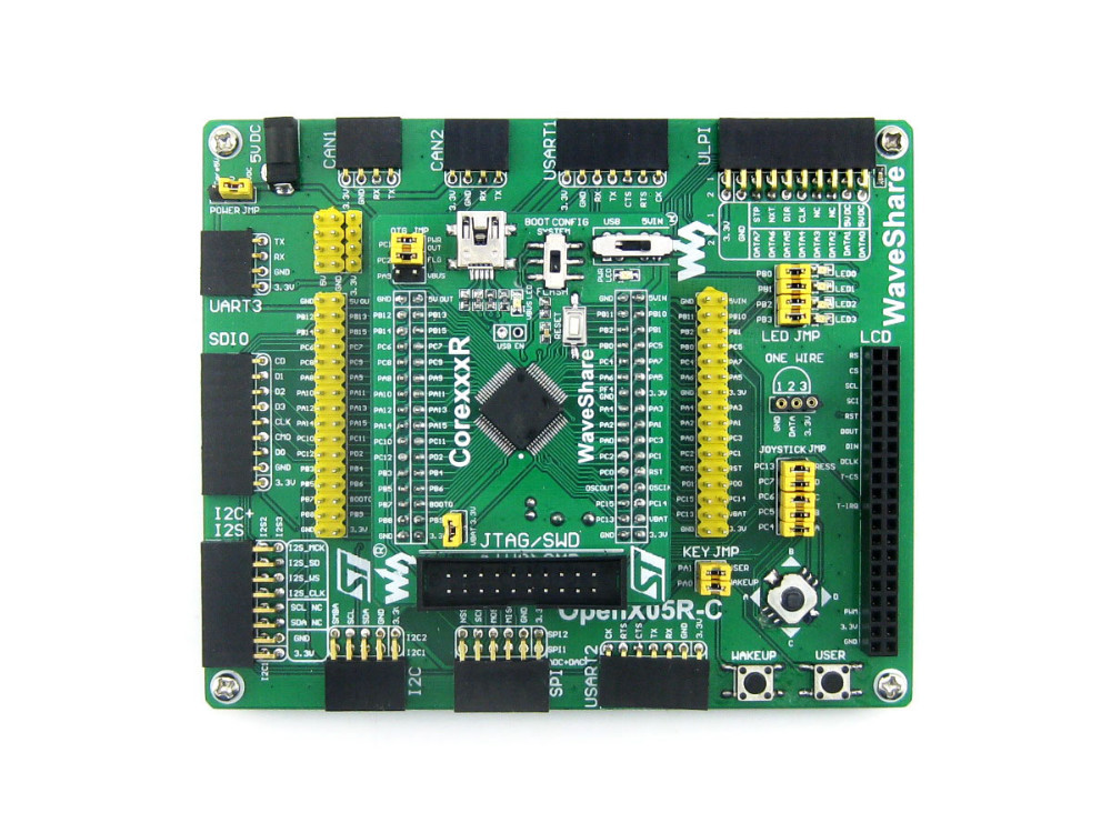 STM32 Board STM32F4 STM32F405 STM32 ARM Cortex-M4 STM32F407ZxT6 STM32 Development Board Kit =Open405R-C Standard black plastic ads iar stm32 jtag interface jlink v8 debugger arm arm7 emulator cortex m4 m0