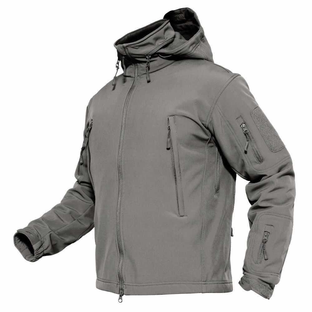 26d2aba7e ... MAGCOMSEN Jackets Men Winter Softshell Fleece Tactical Jackets US Army  Military Style Hooded Coats Waterproof Windbreaker ...