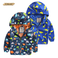 Kids Spring Summer Coats Boys Cartoon Dinosaur Sun Protection Waterproof Jackets Graffiti Style Toddler Boy Jacket Hooded Coat