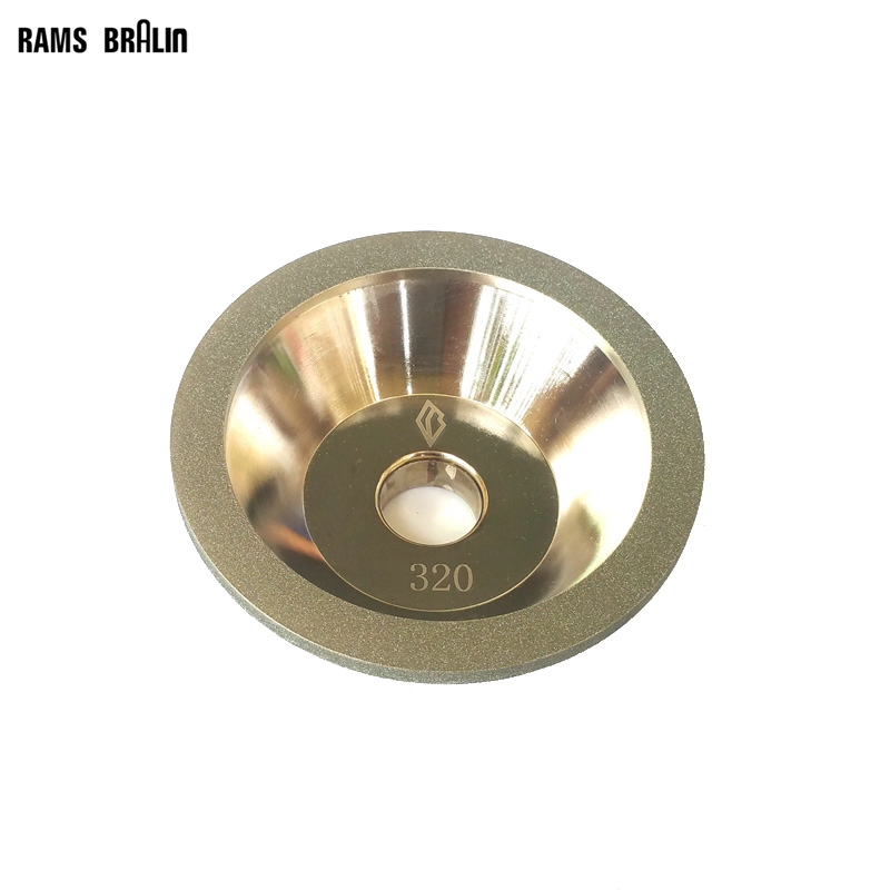 CNC Knife Grinder Diamond Grinding Abrasive Wheel P320 8 inch iron ore seal carving knife grinding abrasive rock hand polishing wheel 200