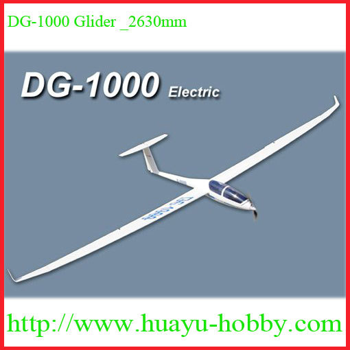 DG 1000 Slope Glider 2630mm Material Fiberglass fuselage Balsa wings