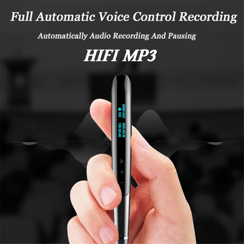 Volemer Q9 Digital Recorder Led Display Digital Audio Sound Voice Recorder Pen Professional Dictaphone Protable Mini Mp3 Player (4)