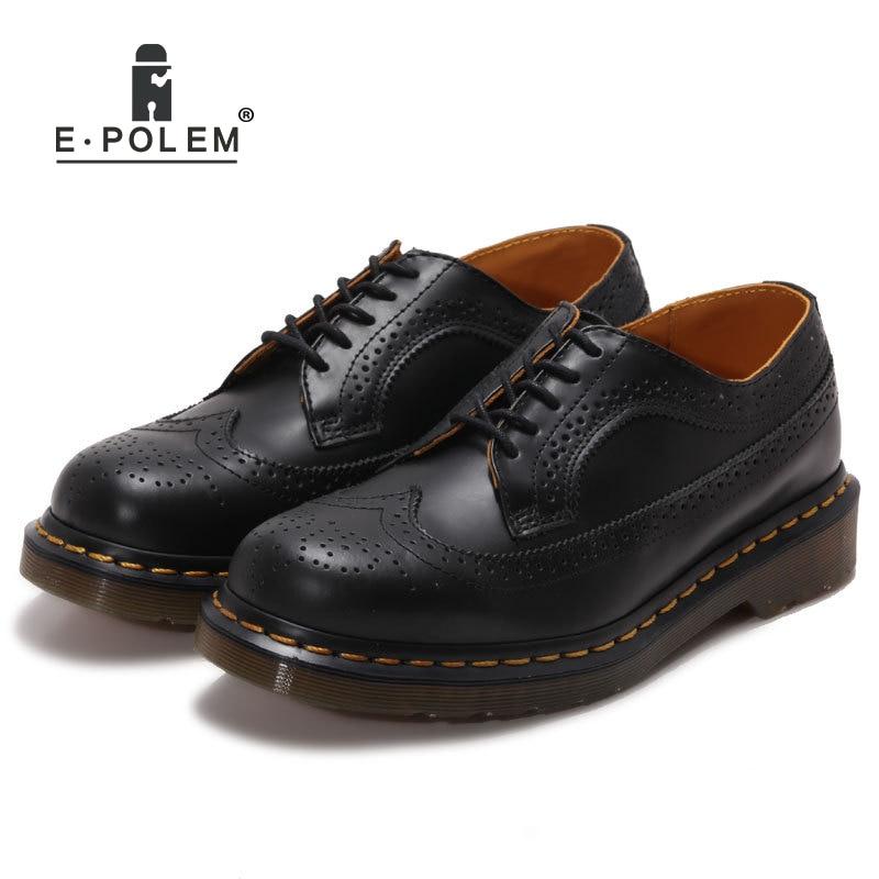 Nouveau cuir véritable chaussures Bullock Style romain Vintage sculpté bas hommes unisexe chaussures à lacets en cuir réservation