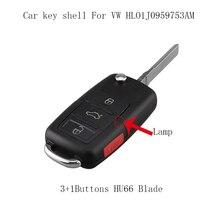 30 teile/los 3 + 1 Tasten Fernbedienung Auto Schlüssel Shell für VW Passat Jetta für VW Polo Passat B5 B6 golf 4 5 6 Touran Bora Jetta Flip Schlüssel