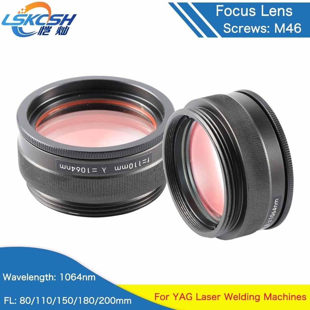 LSKCSH Laser Focusing Lens 1064 Laser Welding Machine Focus Lens M46 3 Lenses Combined Scews M50
