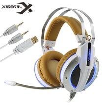 Xiberia X11 компьютерных игр лучшие наушники стерео глубокий бас игры гарнитура headfone с функцией вибрации/Mic для PC Gamer