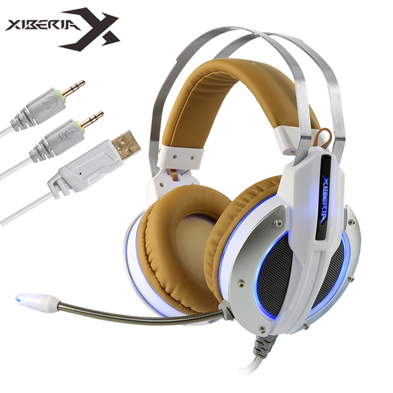 XIBERIA X11 Computer Gaming Headphones Best Stereo Deep Bass Game Headset PS4 Headfone with Vibration/Mic for PC Gamer Ps4 Xbox