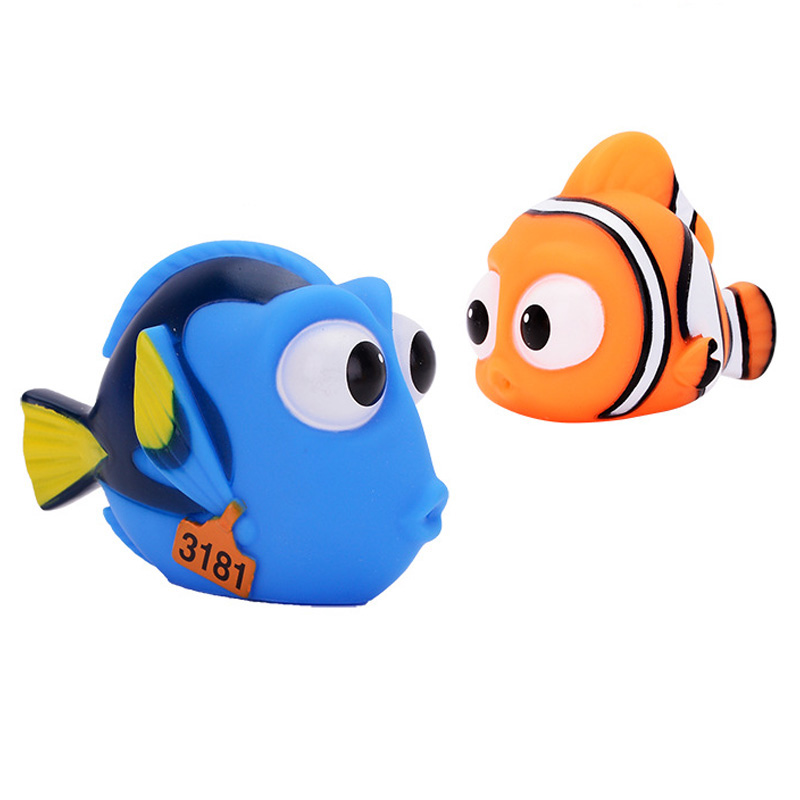 cute cartoon Nemo sea animal squeezed baby bath toys kids Water spray toys for children float beach toys ubber bath toy