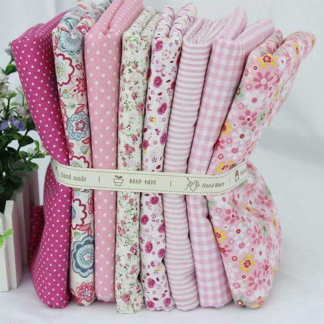 8 PCS 48CM*48CM pink cotton fabric sewing tilda doll cloth DIY craft material tecido para patchwork tissues scrapbooking textile