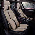 Nueva 5d cubierta de asiento de coche, amortiguador de asiento universal, de cuero de alto nivel, de lino coche cubre, para jeep wrangler grand cherokee comandante brújula